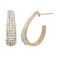 Vibrant Crystal Hoop Earrings