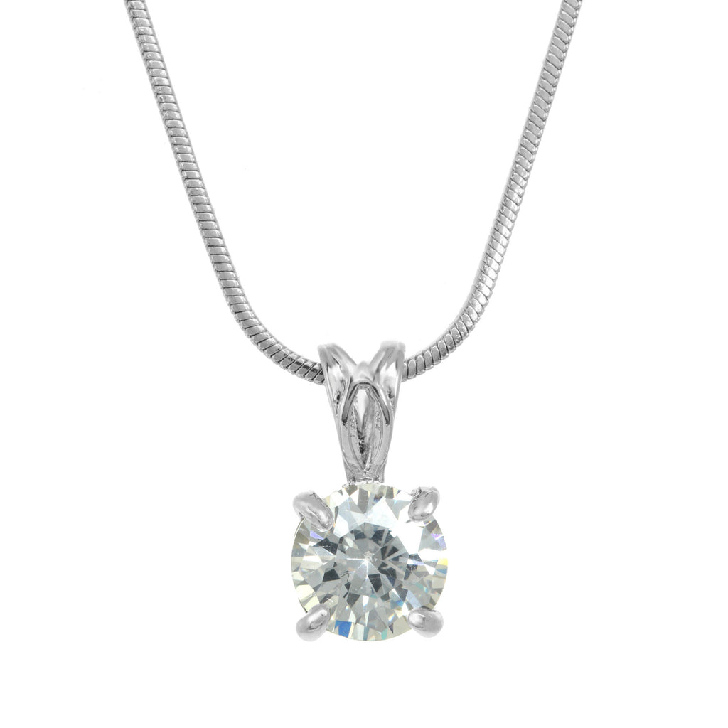 gold solitaire solitare of weight necklace white product karat diamonds carat total with