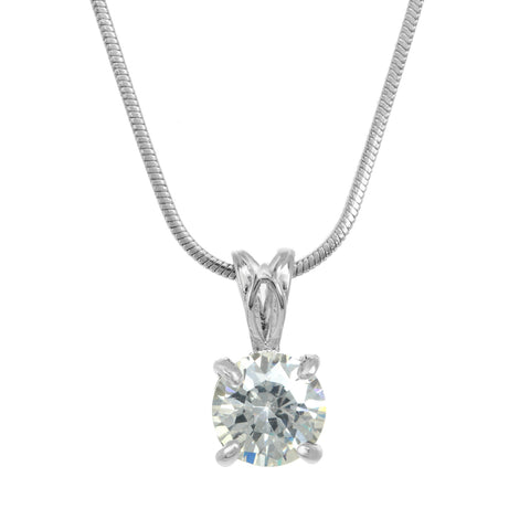 Ava Solitaire Necklace