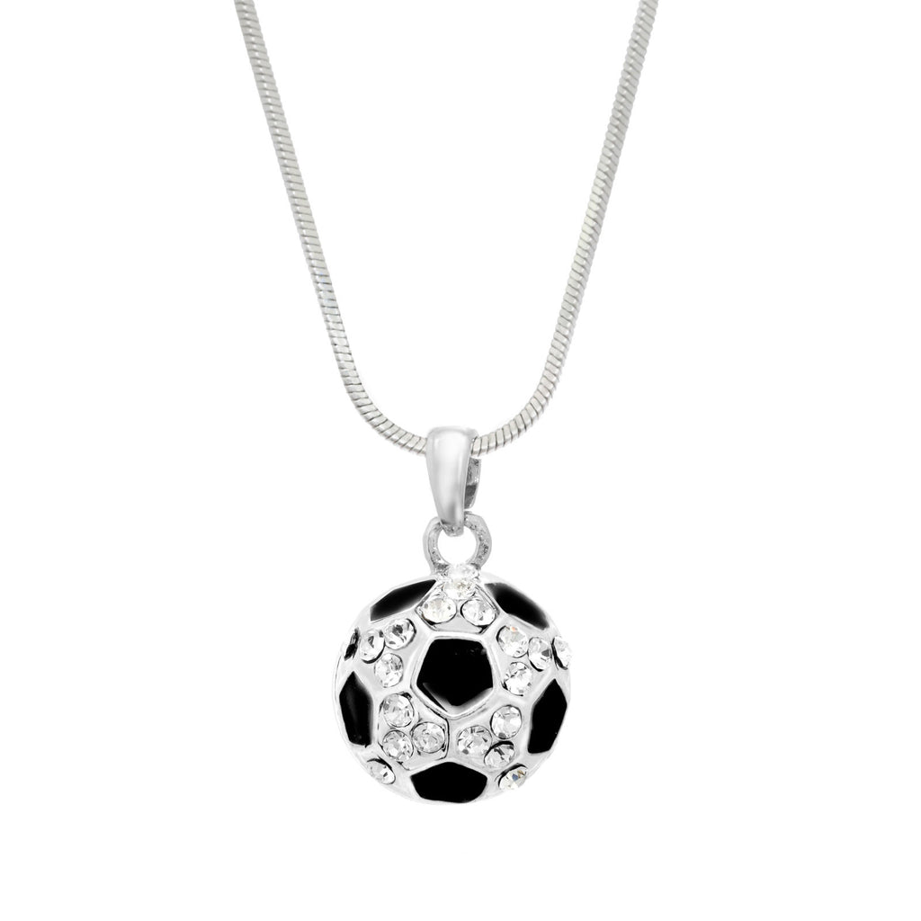 Pave Soccer Ball Necklace