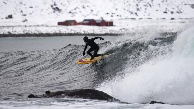 Freezing waves and surf legends in the Arctic Circle