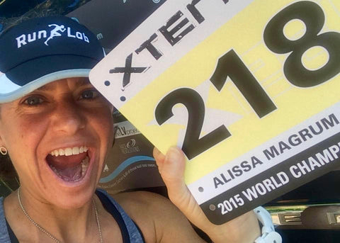 dryrobe Xterra Tri racing world champion Alissa Magrum