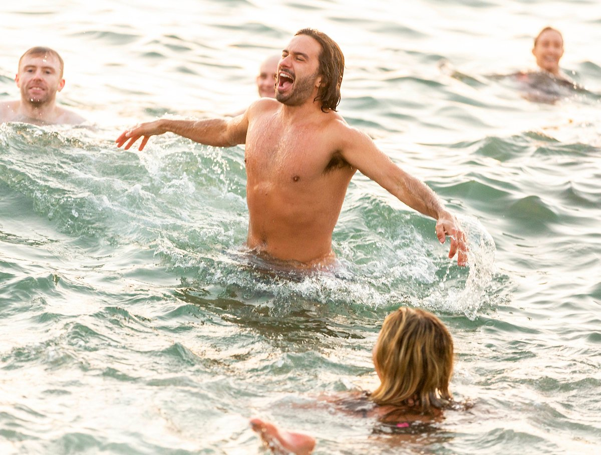 Joe Wicks - the Body Coach - at #swimrise with the Happy Pear - Photos courtesy of Alan Rowlette