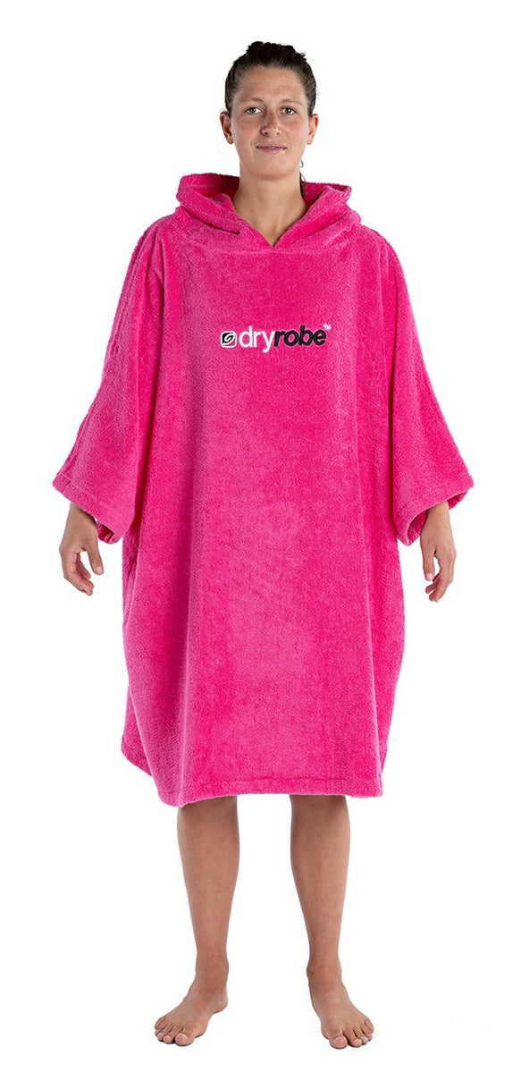 1|M, Adult Pink towel changing robe Female Front dryrobe