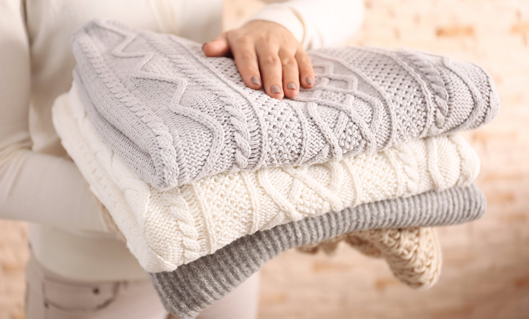 Make sure to choose the right detergent when washing wool garments