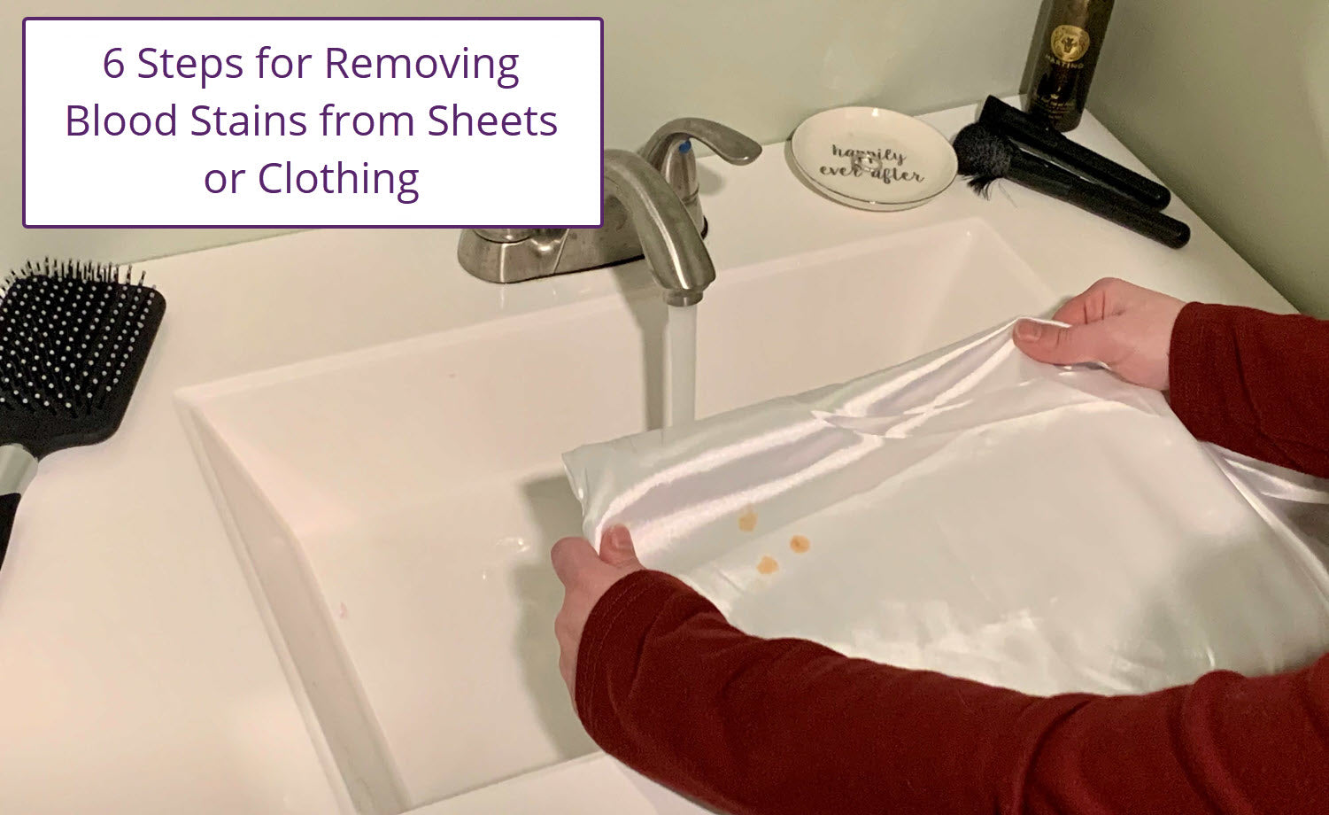 How-To Remove Blood Stains from bedding or pajamas