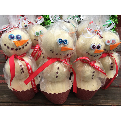 Snowman giftable wool or bamboo dryer ball set