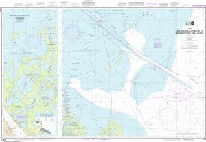 US NOAA Chart 11353 Baptiste Collette Bayou to Mississippi River Gulf Outlet;Baptiste Collette Bayou Extension