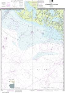 US NOAA Chart 11356 Isles Dernieres to Point au Fer