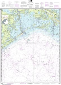 US NOAA Chart 11358 Barataria Bay and approaches