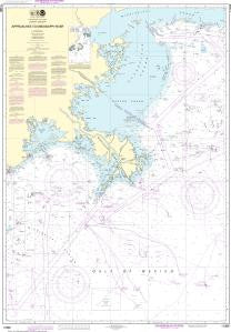 US NOAA Chart 11366 Approaches to Mississippi River