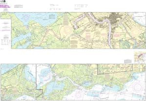 US NOAA Chart 11367 Intracoastal Waterway Waveland to Catahoula Bay