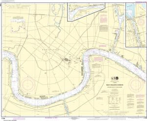 US NOAA Chart 11368 New Orleans Harbor Chalmette Slip to Southport