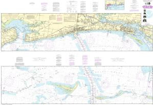 US NOAA Chart 11372 Intracoastal Waterway Dog Keys Pass to Waveland