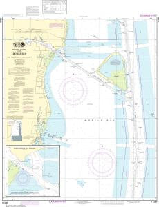 US NOAA Chart 11380 Mobile Bay East Fowl River to Deer River Pt; Mobile Middle Bay Terminal