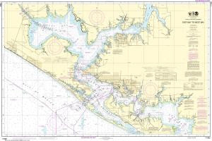 US NOAA Chart 11390 Intracoastal Waterway East Bay to West Bay