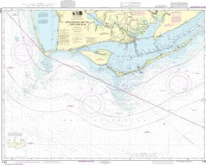 US NOAA Chart 11401 Apalachicola Bay to Cape San Blas