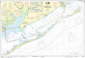 US NOAA Chart 11404 Intracoastal Waterway Carrabelle to Apalachicola Bay;Carrabelle River