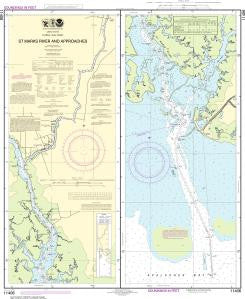 US NOAA Chart 11406 St.Marks River and approaches