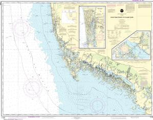 US NOAA Chart 11429 Chatham River to Clam Pass;Naples Bay;Everglades Harbor