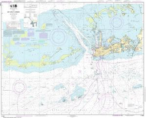 US NOAA Chart 11441 Key West Harbor and Approaches