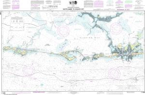 US NOAA Chart 11449 Intracoastal Waterway Matecumbe to Grassy Key