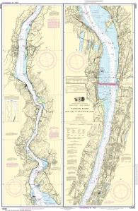 US NOAA Chart 12343 Hudson River New York to Wappinger Creek