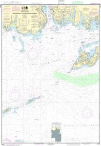 US NOAA Chart 13212 Approaches to New London Harbor