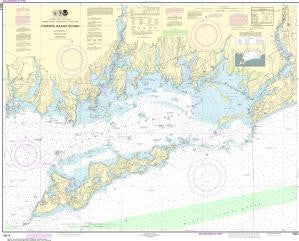 US NOAA Chart 13214 Fishers Island Sound