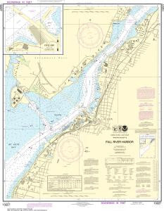 US NOAA Chart 13227 Fall River Harbor;State Pier