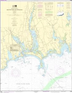 US NOAA Chart 13228 Westport River and Approaches