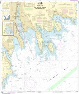 US NOAA Chart 13232 New Bedford Harbor and Approaches