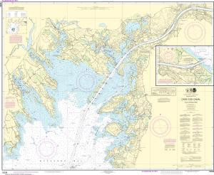 US NOAA Chart 13236 Cape Cod Canal and Approaches
