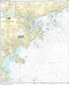 US NOAA Chart 13275 Salem and Lynn Harbors; Manchester Harbor