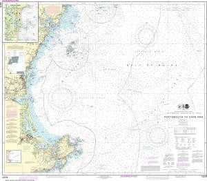US NOAA Chart 13278 Portsmouth to Cape Ann; Hampton Harbor