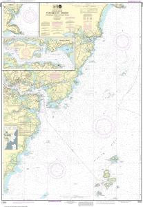 US NOAA Chart 13283 Portsmouth Harbor Cape Neddick Harbor to Isles of Shoals; Portsmouth Harbor