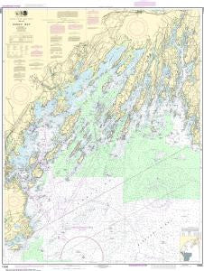 US NOAA Chart 13290 Casco Bay