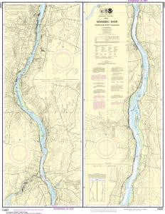 US NOAA Chart 13297 Kennebec River CourthoUS NOAA Charte Point to AugUS NOAA Chartta