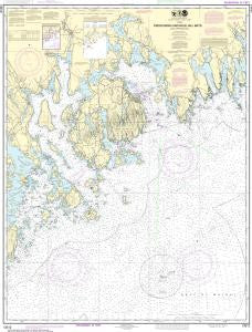 US NOAA Chart 13312 Frenchman and Blue Hill Bays and Approaches
