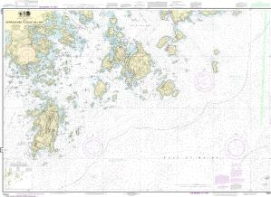 US NOAA Chart 13313 Approaches to Blue Hill Bay
