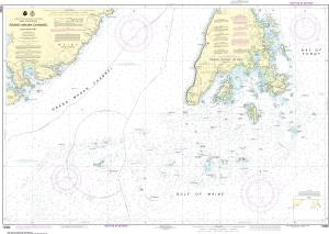 US NOAA Chart 13392 Grand Manan Channel Southern Part (Metric)