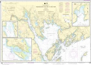 US NOAA Chart 13398 Passamaquoddy Bay and St. Croix River (Metric);Beaver Harbor;Saint Andrews;Todds Point