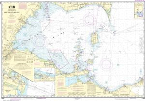 US NOAA Chart 14830 West End of Lake Erie;Port Clinton Harbor;Monroe Harbor;Lorain to Detroit River (Metric);Vermilion