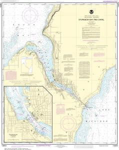 US NOAA Chart 14919 Sturgeon Bay and Canal;Sturgeon Bay