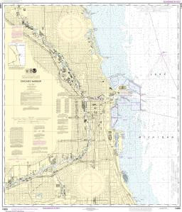 US NOAA Chart 14928 Chicago Harbor