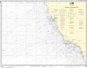 US NOAA Chart 18020 San Diego to Cape Mendocino