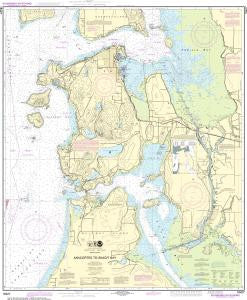 US NOAA Chart 18427 Anacortes to Skagit Bay