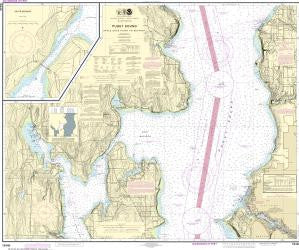 US NOAA Chart 18446 Puget Sound-Apple Cove Point to Keyport;Agate Passage