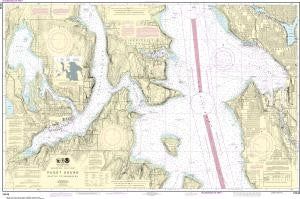 US NOAA Chart 18449 Puget Sound-Seattle to Bremerton