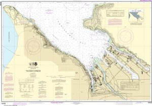 US NOAA Chart 18453 Tacoma Harbor